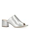 Mules in Metallic-Silber