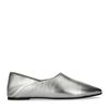 Loafer metallic-silber