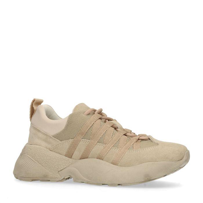 Braune Dad-Sneaker