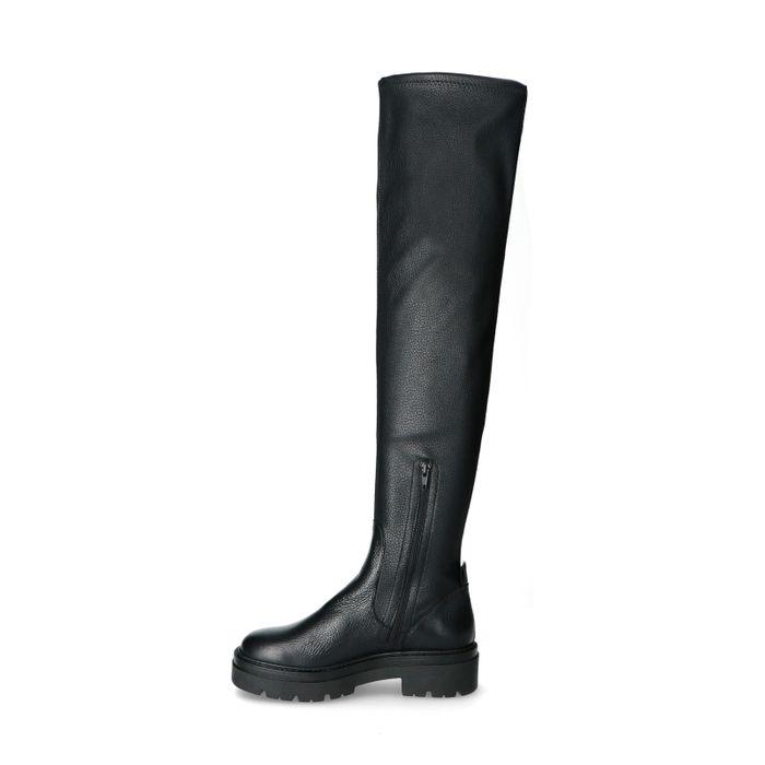 Hohe schwarze Chelsea Boots
