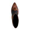 Braune Western Boots mit schwarzen Details