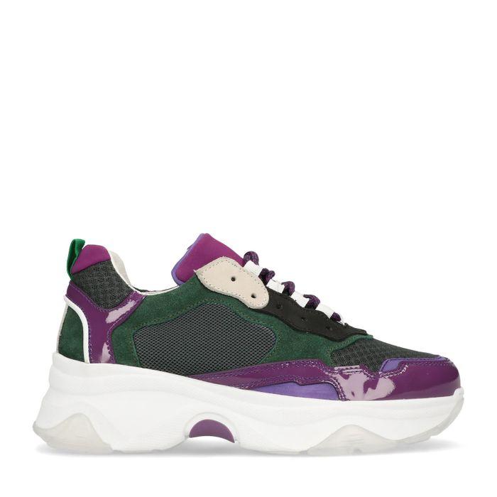 Dad-Sneaker lila/grün