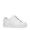 Weiße Sneaker mit Reißverschluss