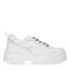Weiße Dad-Sneaker mit Plateausohle