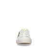 Weiße Sneaker mit Leoprint-Stern