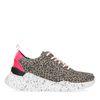 Dad-Sneaker mit Leopardenmuster
