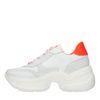 Weiße Dad-Sneaker mit orangefarbenen Details