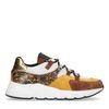 Gelbe Dad-Sneaker mit Schlangenmuster