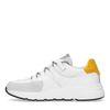 Weiße Dad-Sneaker mit ockergelbem Detail