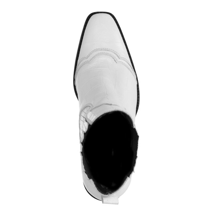 Weiße Stiefeletten mit Absatz