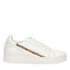 Weiße Sneaker mit Animalprint