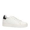 Weiße Sneaker mit Lack-Detail