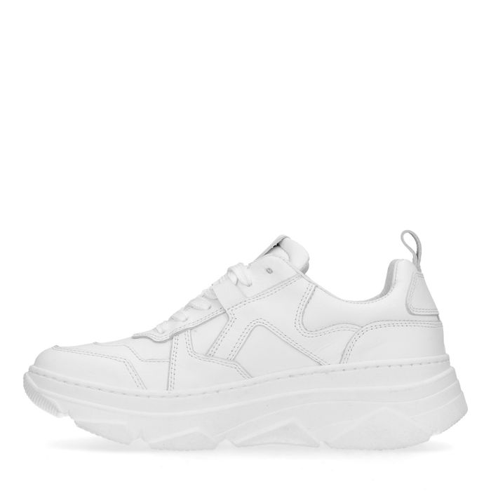 Weiße Dad-Sneaker aus Leder