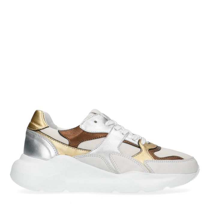 Dad-Sneaker mit Metallic-Details