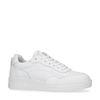 Weiße Ledersneaker