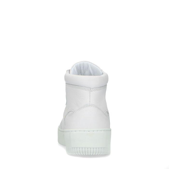 Halbhohe weiße Sneaker
