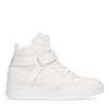 Halbhohe weiße Ledersneaker