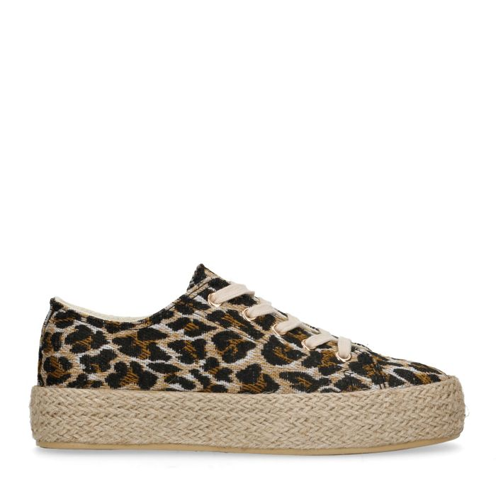 Plateausneaker mit Leopardenmuster