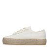 Offwhite Sneaker mit Jutesohle