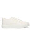 Weiße Leinen-Sneaker