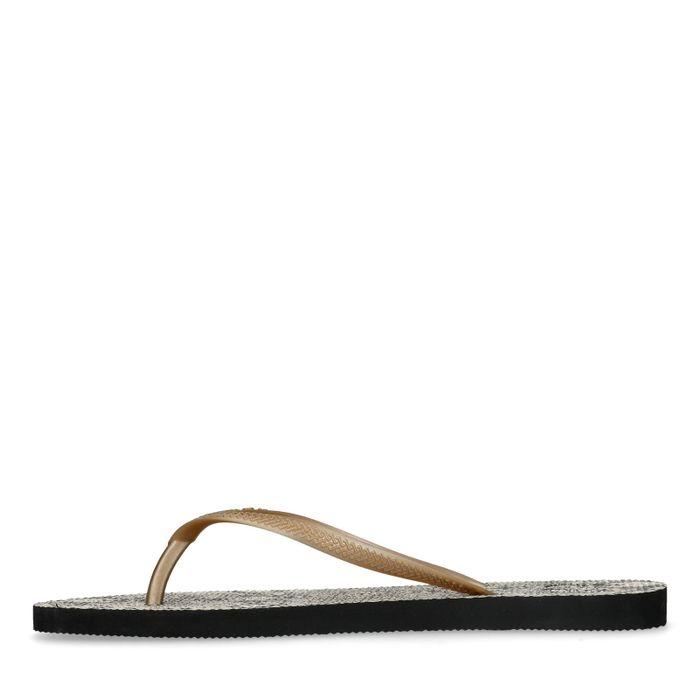 Sandalen mit Schlangenmuster