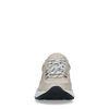 Beigefarbene Nubuk-Sneaker mit schwarzen Details