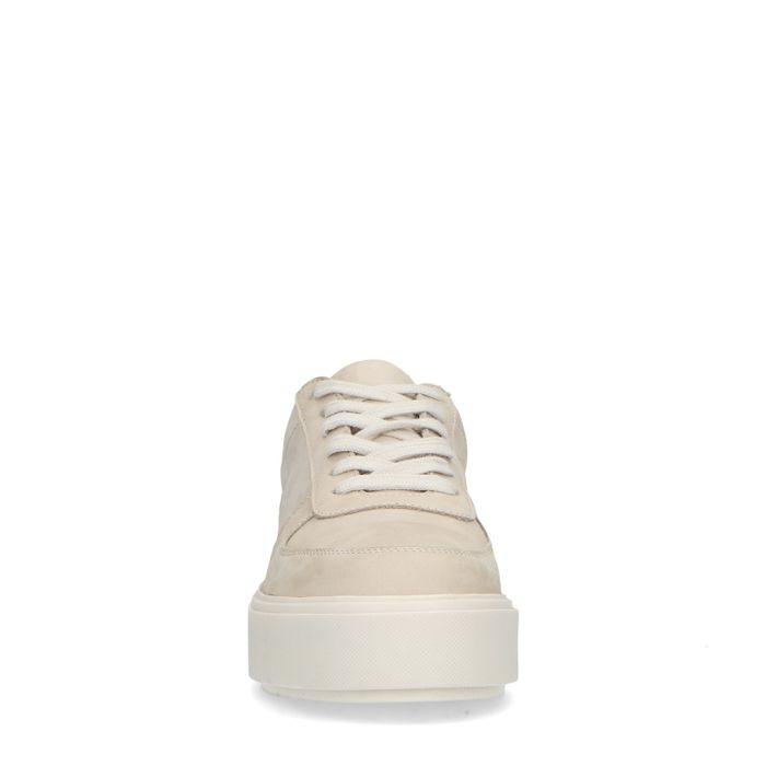 Beigefarbene Nubuk-Sneaker