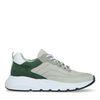 Graue Sneaker mit grünen Details