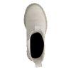 Offwhite Chelsea Boots aus Nubukleder mit Plateausohle