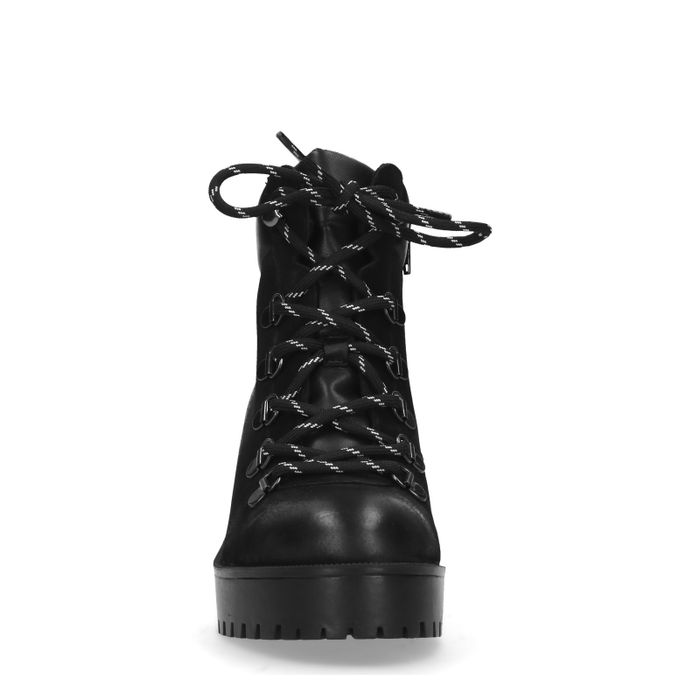 Schwarze Stiefeletten mit Blockabsatz