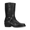 Schwarze Nubuk-Stiefel mit Schnalle