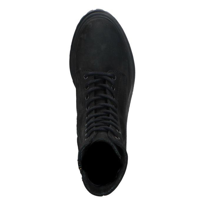Schwarze Schnürstiefeletten