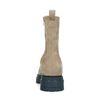 Taupefarbene Chelsea Boots aus Nubukleder