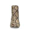 Schlangenmuster-Stiefeletten mit kleinem Absatz