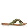 Grüne Sandalen mit Schlangenmuster