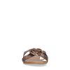 Sandalen mit Schlangenmuster und goldenem Ring