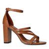 Braune Sandaletten mit hohem Absatz