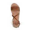 Cognacfarbene Sandalen mit Schnalle