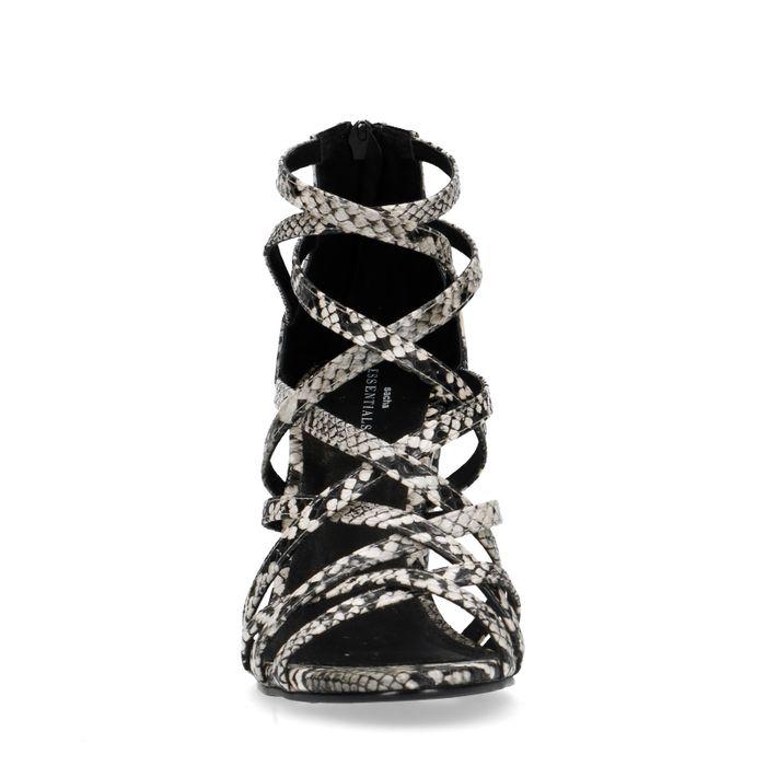 Sandaletten mit Schlangenmuster