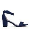 Sandaletten im Denim-Look