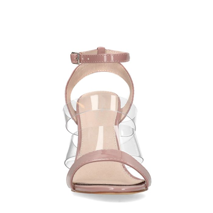 Roséfarbene Sandaletten