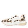 Rosafarbene Dad-Sneaker mit Zebramuster und weißem Detail