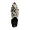 Beigefarbene Chelsea Boots mit Schlangenmuster
