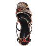 Sandaletten mit Snakeprint