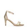 Goldene Metallic-Sandaletten