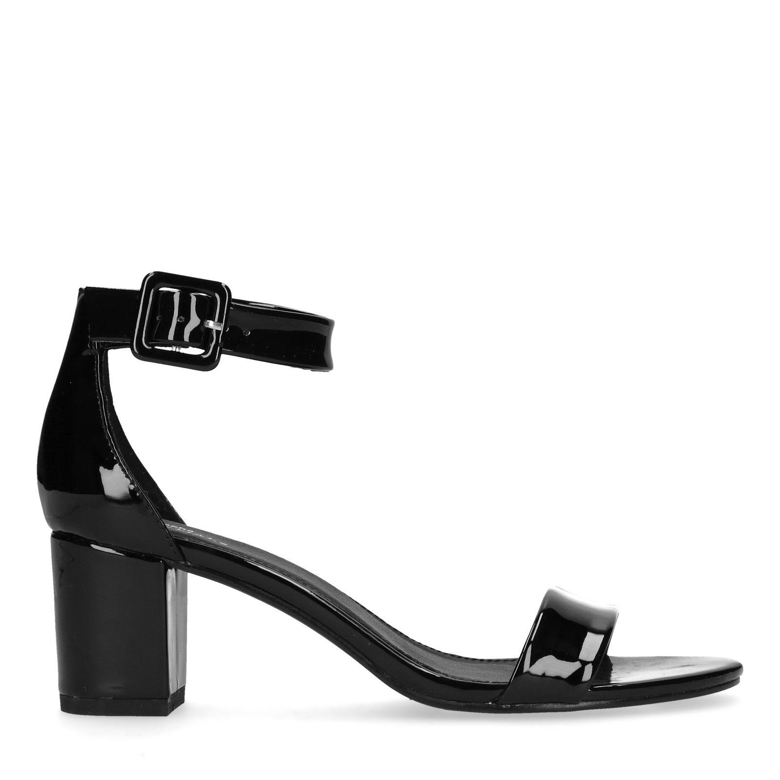 sandalette lack schwarz