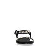 Schwarze Sandalen mit Muscheln
