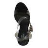 Durchsichtige schwarze Sandaletten