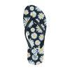 Schwarze Sandalen mit Gänseblümchen