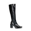 Schwarze Stiefel mit Absatz und hohem Schaft